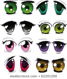 Cartoon eyes with different emotions and expressions - 25 Eps Balloon Face, Clay People, Cartoon Eyes, Different Emotions, Clay Pot Crafts, Doll Eyes, Lol Dolls, Anime Style, Painted Rocks