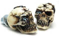 The skull is made of hard resin, bone colored, hand painted with amazing details ! Add a custom touch to your ride with these new ancient look skull bolts. Length of bolt threading is approx. Motorbike Parts, Motorcycle Bike, Bone Color, Bike Accessories, Skull, Tags, Ebay, Mailing Labels, Sugar Skull