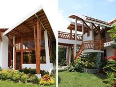 Resultado de imagen para construccion con bambu Bamboo Architecture, Tropical Architecture, Beautiful Architecture, Bamboo Building, Natural Building, Rest House, Tiny House Cabin, Farm House, Bamboo House Design
