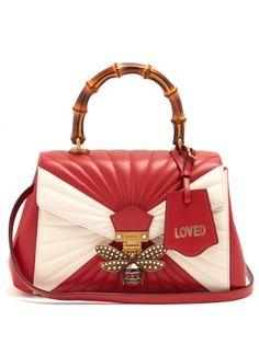 Queen Margaret bamboo-handle leather shoulder bag | Gucci | MATCHESFASHION.COM UK - a handbag for Cheryl Blossom