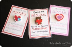 Create this Valentines Day card alternative. The little heart