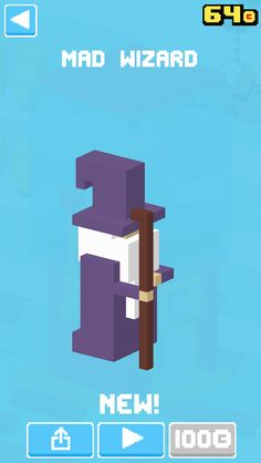 Just unlocked Mad Wizard! #crossyroad