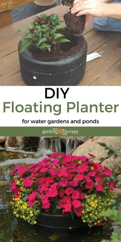 Craft Projects For Kids, Cool Diy Projects, Outdoor Projects, Garden Crafts, Garden Projects, Garden Ideas, Easy Diy, Simple Diy, Floating Garden