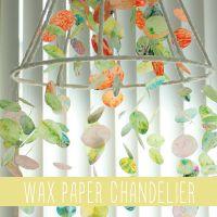 wax paper chandelier