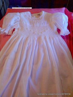 smocked with pearls hand embroidered 0427820744 created by cutiepye