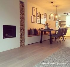 Tiffany saved to indianInterieur op maat - Sander Zwart Interieur - Living Room Inspiration, Dining Room Design, House Inspiration, House Styles, Home And Living, Home Living Room, House, House Interior, Home Deco