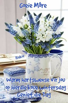 Lekker Dag, Afrikaanse Quotes, Goeie More, Good Morning Wishes, Empowering Quotes, Table Decorations, Home Decor, Winter, Pictures