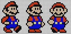 Melty Bead Patterns, Hama Beads Patterns, Beading Patterns, Cross Stitch Love, Cross Stitch Alphabet, Cross Stitch Patterns, Pixel Art Templates, Perler Bead Templates, Super Mario