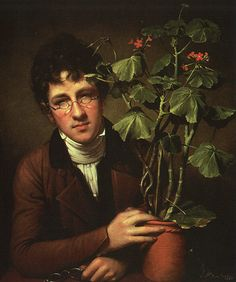 Rembrandt Peale, Rubens Peale with a Geranium, Rubens Peale (May 1784 – July was an American artist and museum director. Born in Philadelphia, he was a son of artist-naturalist, Charles Willson Peale. John Wright, Frankenstein's Monster, Monster Mash, Empire, Thing 1, National Gallery Of Art, Early American, American Women, Western Art