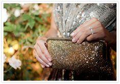 glitter clutch by Oatmeal Lace Design