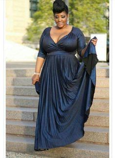 cutethickgirls.com navy blue plus size dress (07) #plussizedresses