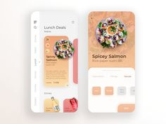 Tokyo Sushi Food - Daily UI 016 designed by Arthur K. Connect with them on Dribbble; Restaurant App, Restaurant Menu Design, Food Design, App Design, Lunch Deals, Salmon And Rice, Sushi Restaurants, Daily Ui, Sushi Recipes