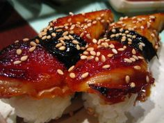 Unagi is one of the best cooked items on a sushi menu.