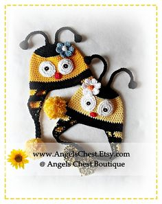 CUTE as can BEE HAT crochet pattern