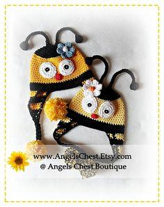 CUTE as can BEE HAT crochet pattern