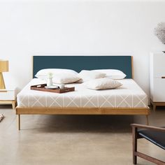 Bed Fawn I - massief eikenhout   home24.nl