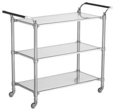 Beckett Bar Cart, available in silver or gold finish, and $200 off for cyber Monday! via Williams-Sonoma
