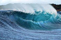 Unridden wave, Sydney, Australia