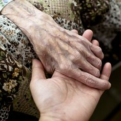 The hands of the elderly. I used to love holding my nanny's hand and playing with her  veins. : (