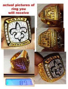Fathers Day Gift 2009 New Orleans Saints Championship Super Bowl Ring