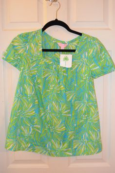 Lilly Pulitzer Cotton Top-Brand New with Tags-Size XS #LillyPulitzer #Blouse #Casual