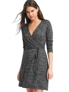 Softspun knit wrap dress