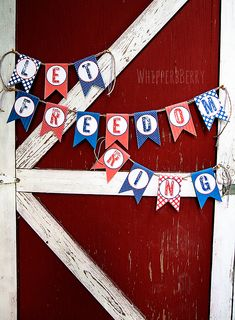 Free Printable Let Freedom Ring- DIY 4th of July Party decoration
