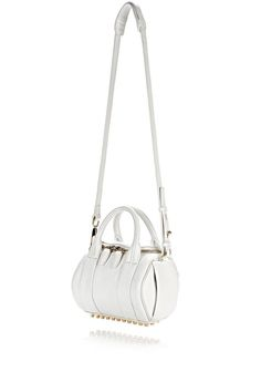 ALEXANDER WANG MINI ROCKIE IN PEROXIDE WITH PALE GOLD Shoulder bag Adult 12_n_e