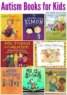 Autism Books For Kids - Wonderful Children's Books About Having A Friend With Autism The Jenny Evolution Autism Activities, Autism Resources, Autism Sensory, Sensory Toys, Autism Information, Autism Books, Evolution, Children With Autism, Books For Autistic Children