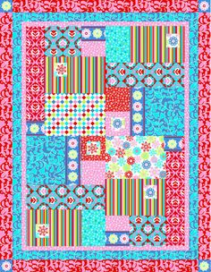 Big Block Quilt Pattern, Big and Tall, Fat Quarter Friendly Throw ... : free patterns for quilting projects - Adamdwight.com