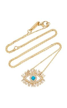 Coexist 18K Gold, Onyx And Diamond Necklace by Noush Jewelry | Moda Operandi Om Necklace, Evil Eye Necklace, Fine Jewelry, Women Jewelry, Suzanne Kalan, Necklace Designs, Designing Women, 18k Gold, Diamond