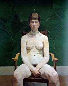 Nude with Green Background - Uglow
