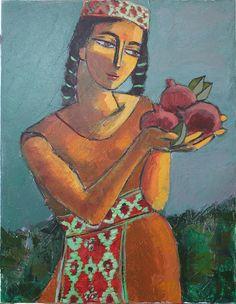 Pomegranate Song Painting by Ara Shahkhatuni