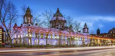 Belfast City Hall At Blue Hour Print by Barry O Carroll Belfast City, Popular Photography, Blue Hour, Donegal, Fine Art America, Ireland, Prints, Travel, Viajes