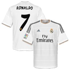 Cristiano Ronaldo Real Madrid Home Jersey Shirt Uniform kit 2013 14 -  Adidas and Fly e36578f3f