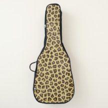 Animal print pattern guitar case
