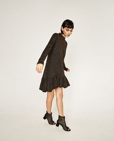 Image 1 of SHINY FRILLED DRESS from Zara
