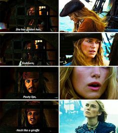 #Pirates of the Caribbean #Jake Sparrow x Elizabeth Swann