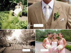Khaki suit for groom. Vintage Chic Wedding