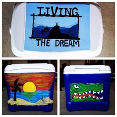 My work #painted cooler