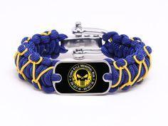 Regular Survival Bracelet - Chris Kyle Memorial - Navy Blue and Gold