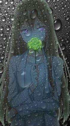 Anime girl rain