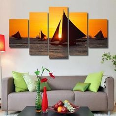Click the BUY IT NOW Button! Fast and Secure Free Worldwide Shipping! Exceptionally designed with love and care! Our premium quality framed canvases Sunset Canvas, Sailboat, Canvas Frame, Canvas Art Prints, Wall Decor, Canvases, Landscape, Button, Design