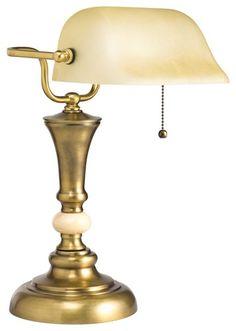 Klassische Banker Schreib Tisch Lampe Nostalgie Büro grün Retro Big Light