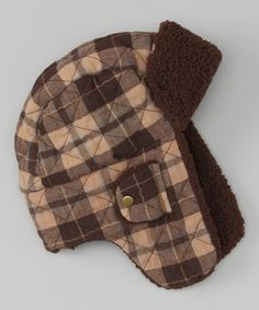 2ef7ef9adbd San Diego Hat Company Brown Plaid Trapper Hat