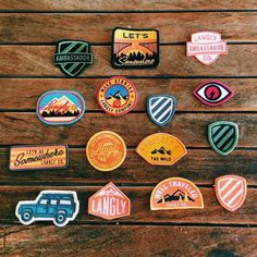 Cool Patch Designs. Good examples of a really fun presentation format.