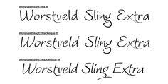 Free handwriting fonts Worstveld Sling