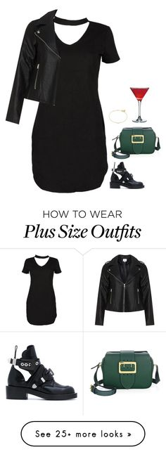 """#6768"" by azaliyan on Polyvore featuring Boohoo, Balenciaga, Burberry, Maya Magal and Zizzi"