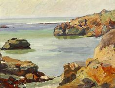 Aaron Kilpatrick (1872-1953 Eagle Rock, CA) ''California Coast'', signed lower right: Aaron Kilpatrick,oil on canvas, each: 14'' x 18'',