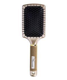 Hair Brush Velvet Touch Paddle Detangling For Straightening Smoothing By Haveia Gold